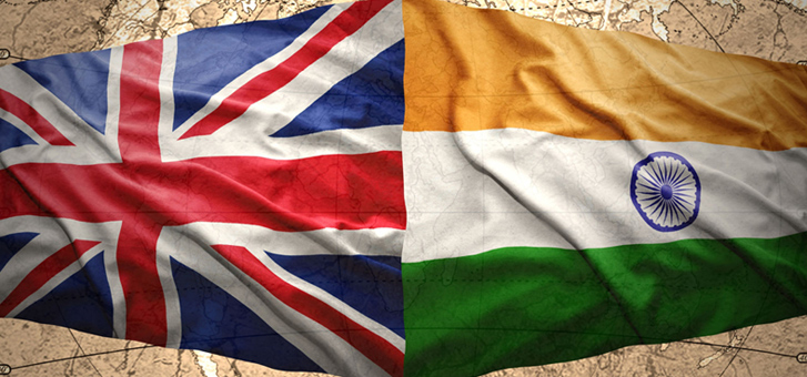 UK India Flags